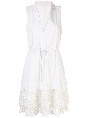 Платье мини Clauden Alexis. Цвет: белый