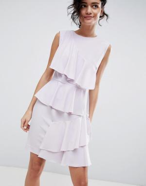 Платье с ярусными оборками 2NDDAY 2nd Day. Цвет: фиолетовый