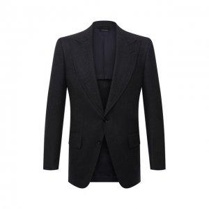Шерстяной пиджак Tom Ford. Цвет: синий