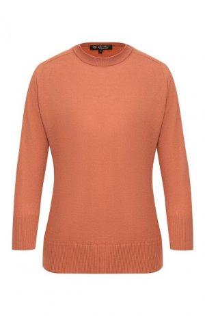 Кашемировый пуловер Loro Piana. Цвет: бежевый
