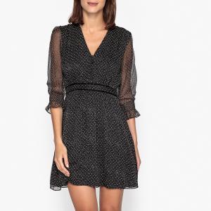 Платье из вуали DOLLY BA&SH. Цвет: черный