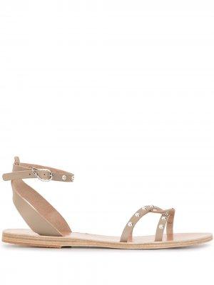 Сандалии Koufonisi с заклепками Ancient Greek Sandals. Цвет: коричневый