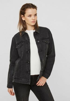 Куртка джинсовая Noisy May. Цвет: черный