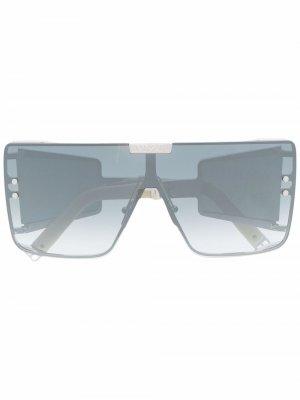 Солнцезащитные очки Wonder Boy в массивной оправе Balmain Eyewear. Цвет: золотистый