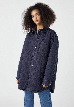 Куртка джинсовая Pull&Bear. Цвет: серый