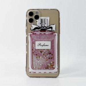 Прозрачный чехол для iPhone с узором духи SHEIN. Цвет: многоцветный
