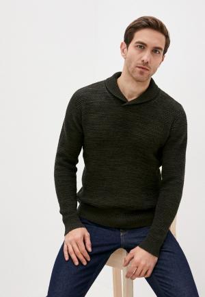 Пуловер Blend. Цвет: зеленый
