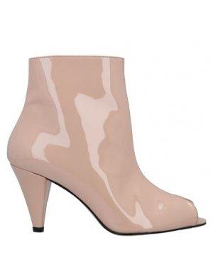 Полусапоги и высокие ботинки ÂME. Цвет: телесный