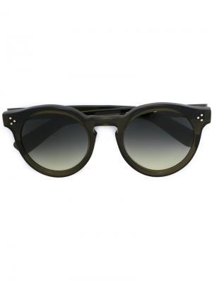 Солнцезащитные очки Leonardo Illesteva. Цвет: зелёный