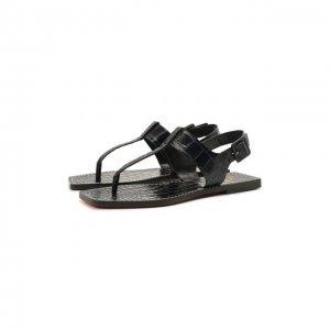 Кожаные сандалии Cubongo Christian Louboutin. Цвет: синий