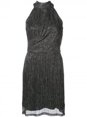 Платье мини без рукавов Halston Heritage. Цвет: черный