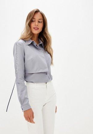 Рубашка Adzhedo. Цвет: серый