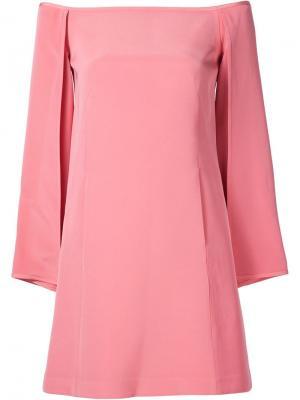 Платье с открытыми плечами Kaufmanfranco. Цвет: розовый и фиолетовый