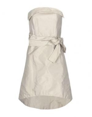 Короткое платье X'S MILANO. Цвет: песочный