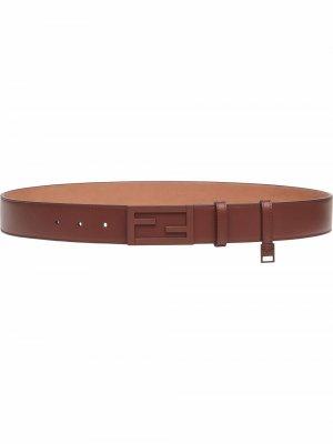 Ремень с пряжкой-логотипом Baguette Fendi. Цвет: коричневый