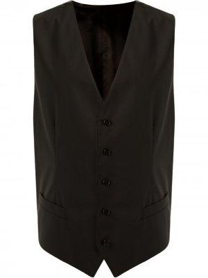 Жилет на пуговицах Dolce & Gabbana. Цвет: черный
