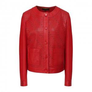 Кожаная куртка Escada. Цвет: красный