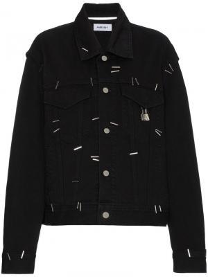 Джинсовая куртка Stapled Ambush. Цвет: черный