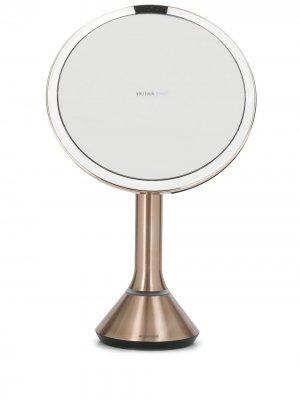 Круглое зеркало 8 с сенсорной подсветкой Simplehuman. Цвет: розовый