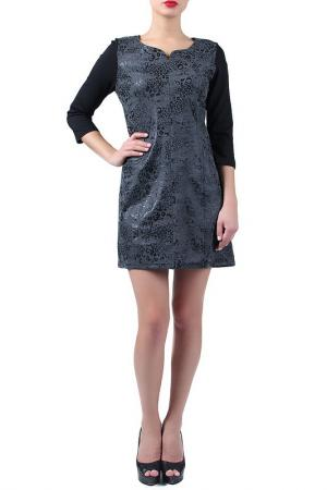Платье EVA Milano. Цвет: серый