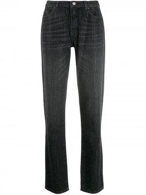 Блестящие джинсы герлфренд Karl Lagerfeld. Цвет: черный