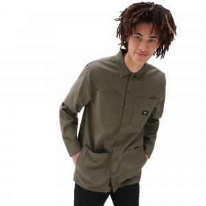 Рубашка Bayview Buttondown VANS. Цвет: оливковый