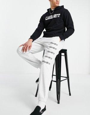 Серые спортивные штаны с логотипом-орбитой -Серый Carhartt WIP