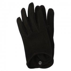 Кожаные перчатки Giorgio Armani. Цвет: чёрный