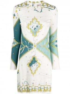 Платье миди с принтом Holiday Emilio Pucci. Цвет: белый