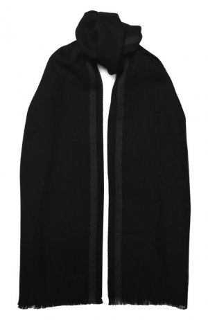 Шерстяной шарф Brioni. Цвет: черный