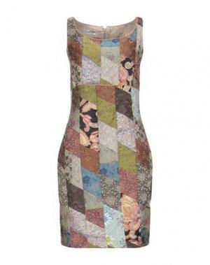 Платье до колена FAIRLY. Цвет: зеленый-милитари