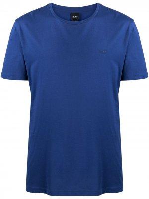 Short-sleeved logo T-shirt Boss Hugo. Цвет: синий