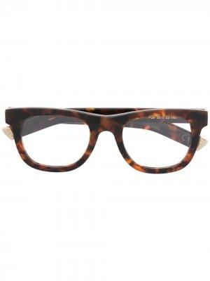 Солнцезащитные очки Ciccio в квадратной оправе Retrosuperfuture. Цвет: коричневый