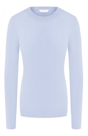 Шерстяной пуловер BOSS. Цвет: голубой