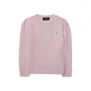 Пуловер из шерсти и кашемира Polo Ralph Lauren. Цвет: розовый