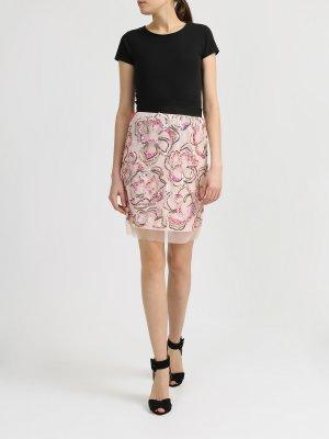 Легкая юбка с пайетками Blugirl. Цвет: rozovyy