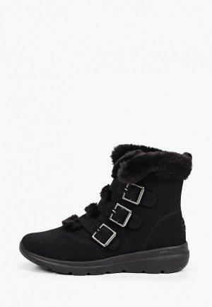 Ботинки Skechers GLACIAL ULTRA HI. Цвет: черный