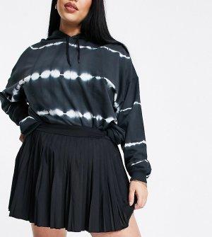 Черная спортивная теннисная юбка Love & Other Things Curve-Черный цвет Plus