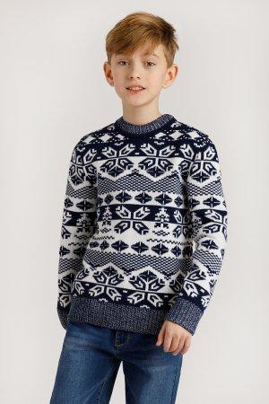 Джемпер для мальчика Finn-Flare. Цвет: темно-синий
