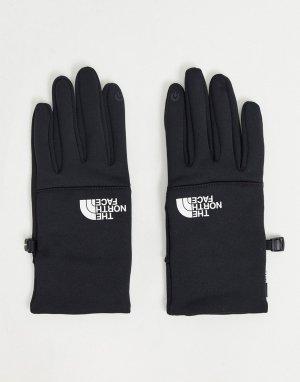 Черные перчатки с белым логотипом Etip-Черный цвет The North Face