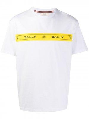Футболка с логотипом Bally. Цвет: белый