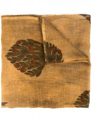 Платок с принтом Uma Wang. Цвет: коричневый