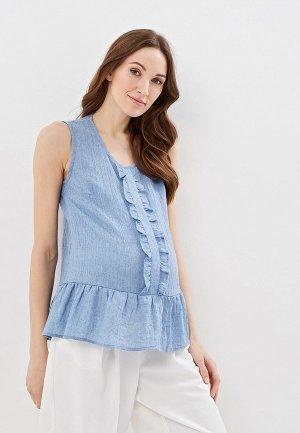 Блуза Очаровательная Адель. Цвет: голубой