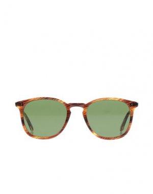 Солнечные очки GARRETT LEIGHT CALIFORNIA OPTICAL. Цвет: коричневый