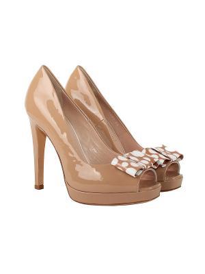 Туфли ANGELO GIANNINI. Цвет: светло-коричневый