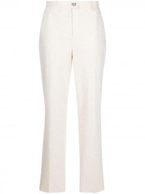 Зауженные брюки с декором Gancini Salvatore Ferragamo. Цвет: нейтральные цвета