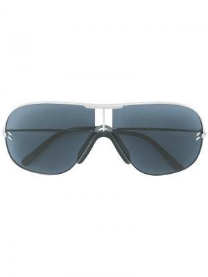 Солнцезащитные очки-авиаторы в тонкой оправе Stella Mccartney Eyewear. Цвет: синий