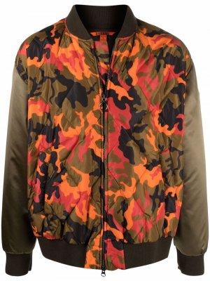 Бомбер с камуфляжным принтом Barena. Цвет: оранжевый