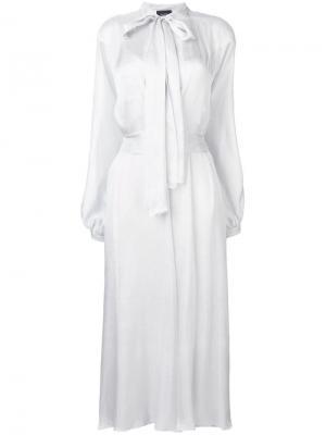 Длинное платье с горловиной на завязке Irina Schrotter