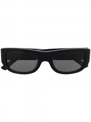 Солнцезащитные очки в прямоугольной оправе AMBUSH. Цвет: черный